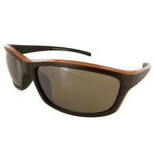 Vuarnet Extreme Unisex VE5003 Athletic Sport Sunglasses, Matte Brown/Orange