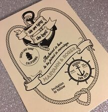 20 Nautical Save the Dates For Destination Wedding - Cards with Envelopes