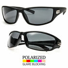 New Black Polarized Mens Wrap Sunglasses Outdoor Sports Eyewear Driving Glasses