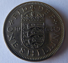 British  1964  1 ONE SHILLING  COIN