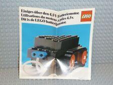 """LEGO® Katalog 1976 """"Einiges über den 4,5V Batteriemotor"""" Heft alt deutsch B282"""