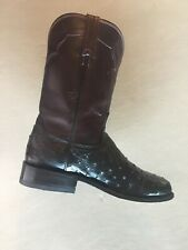 1883 Lucchese Men's Coleman Full Quill Ostrich Western Boots 8.5 EE $649  M1632