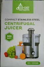 Eco chef compact stainless steel centrifugal juicer 300 watt