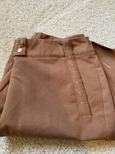 """NWT Tail Brown Golf Shorts 21"""" Gold Hardware Accents Size 10"""
