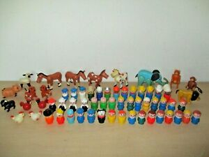 VINTAGE LOT FISHER PRICE LITTLE PEOPLE & ANIMALS. SEE DETAILS & PHOTOS.
