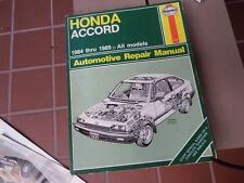 Haynes Shop Manual for the 1984-1989 Honda Accord - EXCELLENT SHAPE