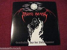 """FRONT BEAST / STAUB split 7"""" Germany black metal Deathstrike Records"""