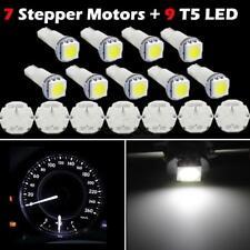 7x Stepper Motor X27.168 Speedometer Cluster Repair Kit 9 White LED Bulbs For GM