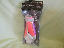 Nike Youth Charge Shin Guards Reinforced Tibia Neon Purple/Orange Large Soccer