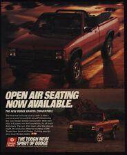 "1989 Dodge Dakota Convertible Open Air Seating Original Print Ad-8.5 x 11/"""