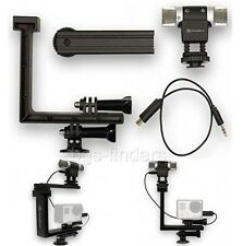 GoPro Microphone Mount Frame Mic Kit Stand for Hero 3+ 3 4 Upgrade Camera Black