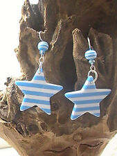 baby blue star earrings nautical summer sea ocean beach