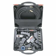 Air Tool Set 10 pc Craftsman Tools Kit Impact Ratchet Wrench Hammer Hose Case