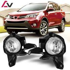 13-15 For Toyota RAV4 Clear Lens Pair OE Fog Light Lamp+Wiring+Switch Kit DOT
