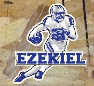 """Ezekiel Elliott Run Zeke Dallas Cowboys Fan Sticker Decal Bumper Car Window 4"""""""