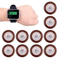 Wireless Restaurant Calling System w/ Watch Receiver+10 Call Transmitter Button!