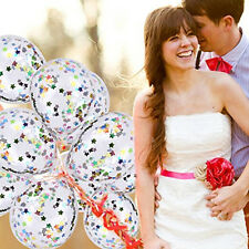 10pcs Confetti Clear Balloons Rainbow Party Supplies Decorations Wedding Ballons
