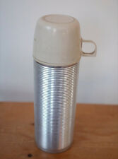 Vintage Metal Thermos 2284 Beehive Style Insulated Bottle White Glass Liner PINT