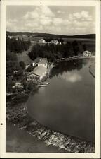 Ledeč nad Sázavou Tschechien alte Postkarte ~1950/60 Teilansicht mit Flußufer