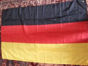 """Germany Flag 2ft6""""x4ft Banner 100% Polyester issued in Greece by Unilever Hellas"""