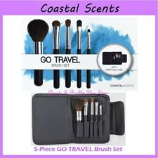 ❤️⭐ NEW Coastal Scents GO TRAVEL 😍🔥👍 5-Piece Brush Set w/Case ❤️⭐ FREE SHIP