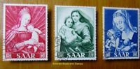 EBS Germany 1954 SAAR - Marian Year - Marianisches Jahr - Michel 351-353 Used