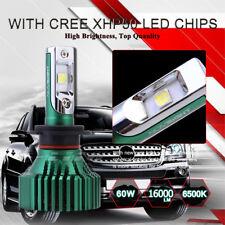 Car CREE LED H7 Headlight Kit 6500K White Bulb 60W Super Bright Fog Lamp 16000LM