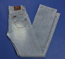Lee seattle jeans donna W28 L34 tg 42 blu denim hot mom slim vintage usati T2744