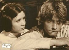 Star Wars ANH Black & White Sepia Base Card #115 Mourning a Mentor