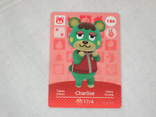 Animal Crossing amiibo Karte CHARLISE 186 Serie 2 NEU