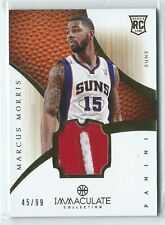 2012-13 Immaculate Marcus Morris PATCH RELIC RC 45/99 SUNS (dinged on back)