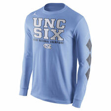 NEW Nike NORTH CAROLINA Tar Heels 2017 Championship Shirt S Long Sleeves UNC SIX