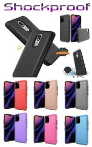 For LG Stylo 7 (5G) FH50 Slim Case Hybrid TPU 2-Piece Brushed Texture Hard Cover