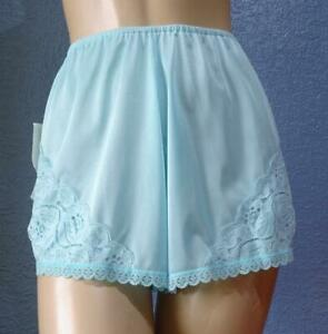 JUNOSIL VINTAGE SILKY TURQUOISE NYLON FRENCH KNICKERS PANTIES Med - NWT