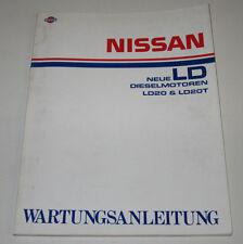 Werkstatthandbuch Nissan Vanette LD Diesel Motor LD20 LD20T Stand Februar 1984!