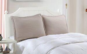100% Cotton Decorative Queen Pillow Shams Set, Standard size of 2 Pillow Shams
