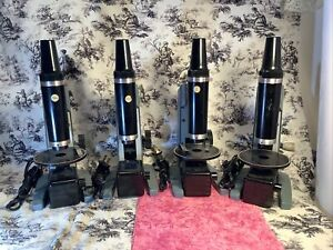 vintage BAUSCH & LOMB Lighted Microscope Lot, 4 Total LIGHTS WORK, for parts