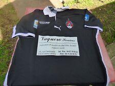 maillot de rugby à 13  XIII Montpellier Diables rouges Puma T XL porté