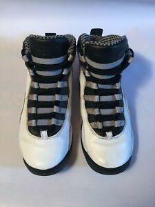 2013 NIKE AIR Jordan 10 X Steel Grade School Retro White 310806-103 Size 4.5
