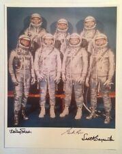 Astronauts Carpenter, Cooper, and Schirra Signed Nasa Mercury 7 Photograph