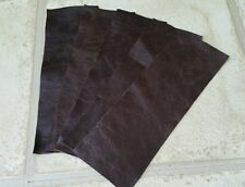 "Black 100/% furtura Italian leather 2 offcuts 9/""x4.5/"" Craft Patch Repair Upcycle"