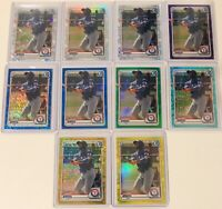 Sherten Apostel Refractor Lot (10) 2020 Bowman Chrome Gold Yellow Green Blue