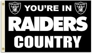 Las Vegas Raiders Huge 3'x5' NFL Licensed Country Flag / Banner - Free Shipping