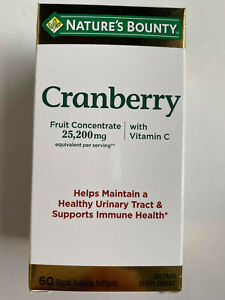 Nature's Bounty Cranberry Fruit Concentrate 25200 mg w/ Vitamin C ( 60 softgels)