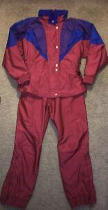 VTG Couloir SKI SUIT Two Pc Waterproof / Sunlock Womens Size 14 Coat /12 Pant