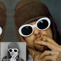 Kurt Cobain Clout Goggles Rapper Oval Shades Grunge Vintage Glasses Sunglasses