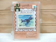 US Postal Service Stamples Corsair Airplane Postage Stamp Mini Jigsaw Puzzle