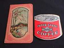 Inter-State Coffee & Watkins Advertising Sewing Needle Cases
