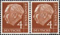 BRD (BR.Deutschland) 178x waagerechtes Paar postfrisch 1954 Heuss