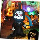 6 Feet Tall Halloween Inflatable Outdoor Grim Reaper, Blow Up Yard Decoration